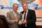 2012 Bob Bullock award winner, Jerry Patterson, Commisioner, Texas General Land Office, with Bob Suehs